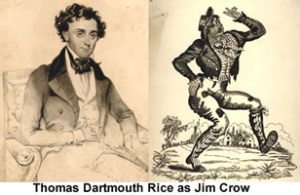 L'acteur Thomas D. Rice qui jouait Daddy Jim Crow
