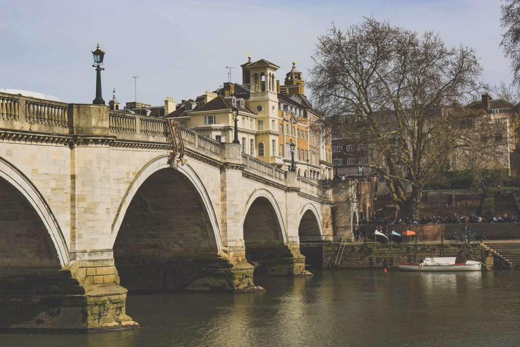 A bridge crossing the River Thames in Richmond.