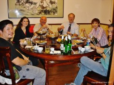 Dinner, somewhere between Beijing and Tianjin