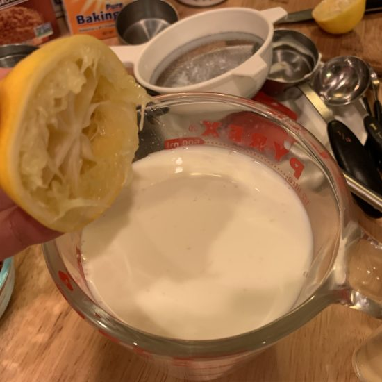 lemon juice plus milk