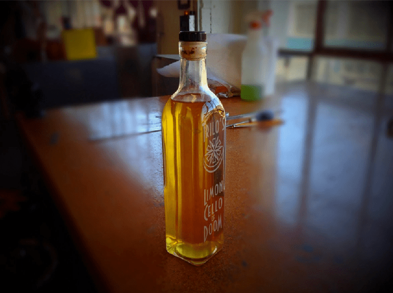 Laser-etched Limoncello Of Doom bottle, 2012