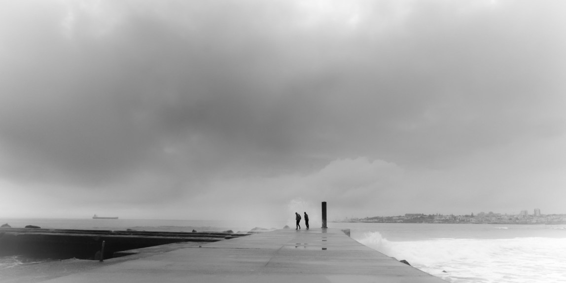 photo: pier, shore, clouds
