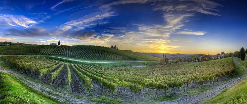 Sunset Over Chianti - (Tuscany, Italy)Read more at: www.blamethemonkey.com