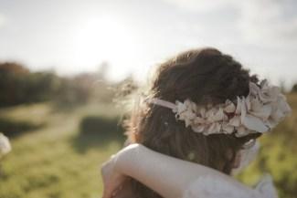 Mélanie, 2016. Headband mariée Blanc Sauvage.