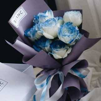 SAPPHIRE - BLUE ROSES | ROSE DYNASTY | BLANC SIGNATURE