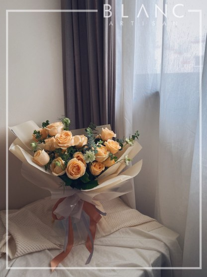 🌹 CITRINE - CHAMPAGNE ROSES BOUQUET | ROSE DYNASTY | BLANC SIGNATURE 2019