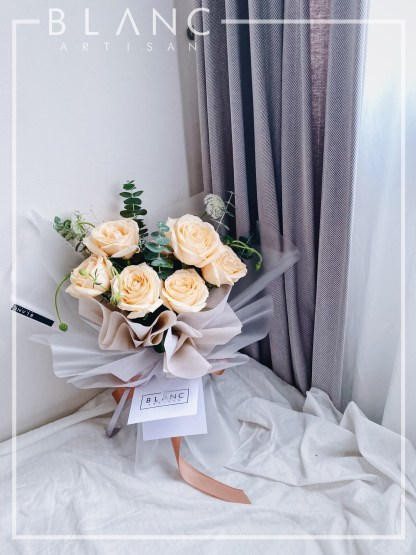 🌹 CITRINE - CHAMPAGNE ROSES BOUQUET   ROSE DYNASTY   BLANC SIGNATURE 2019