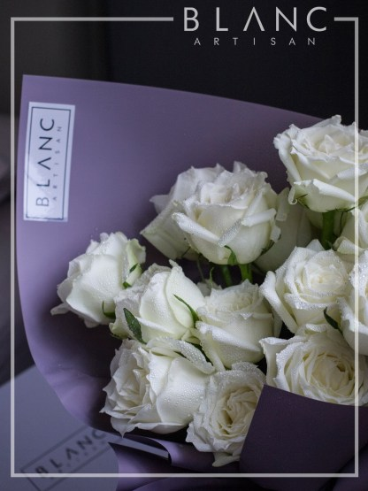 🌹 DIAMOND - WHITE ROSES BOUQUET | ROSE DYNASTY | BLANC SIGNATURE 2019