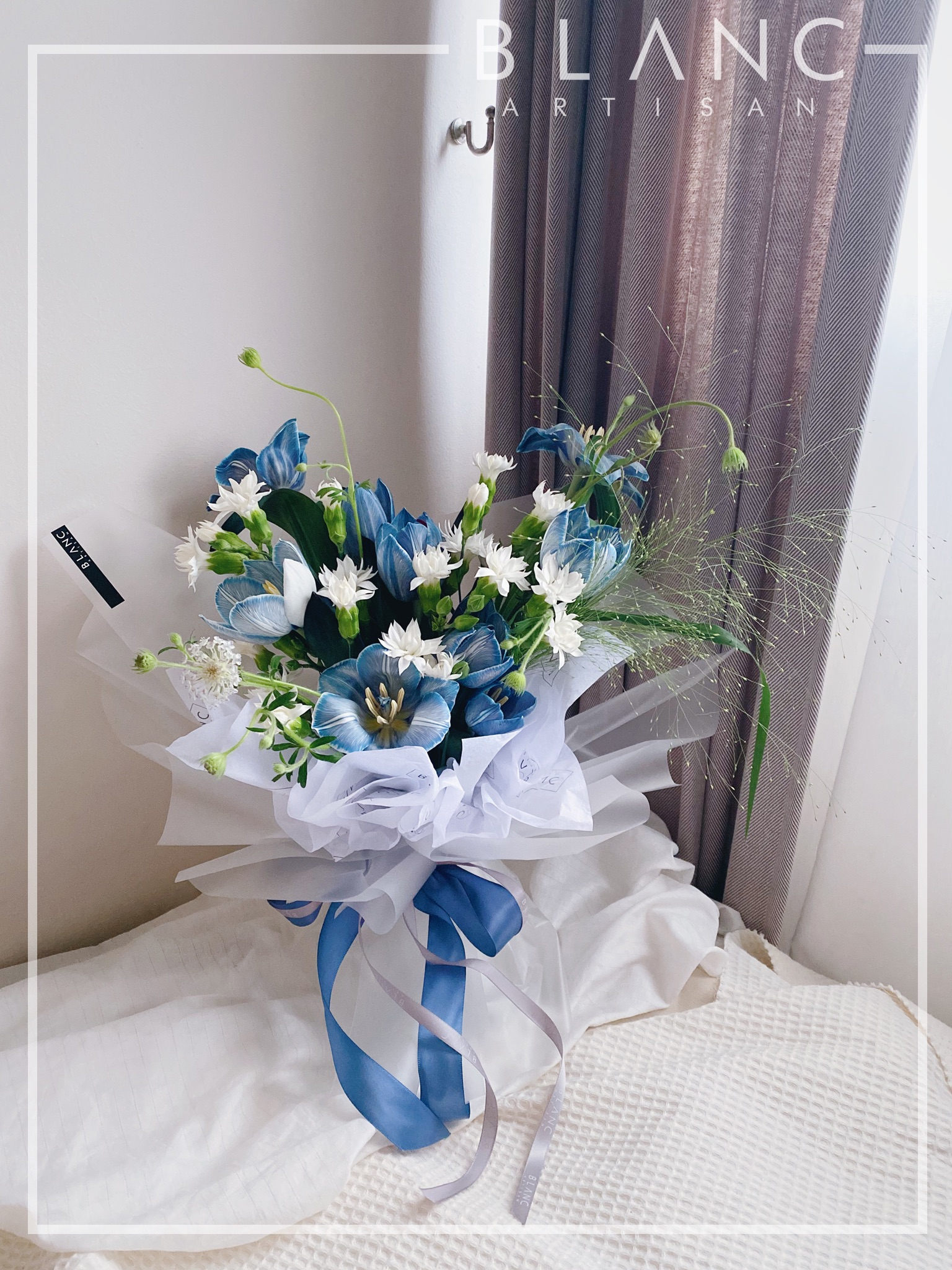 Blue Tulips Bouquet Delivery Singapore 24 Hours Online Flower
