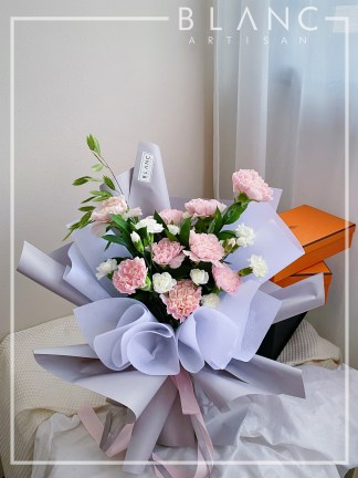 💐 BARCELONA – MOTHER'S DAY PINK CARNATION BOUQUET