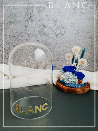 🌹 PARIS - PRESERVED DANDELION BLUE ROSE DOME | DENT DE LION | PRE - FALL 2020