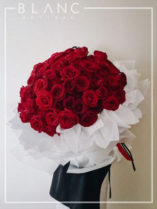 🌹 GARNET - 99 RED ROSES BOUQUET DELIVERY  99 九十九红玫瑰