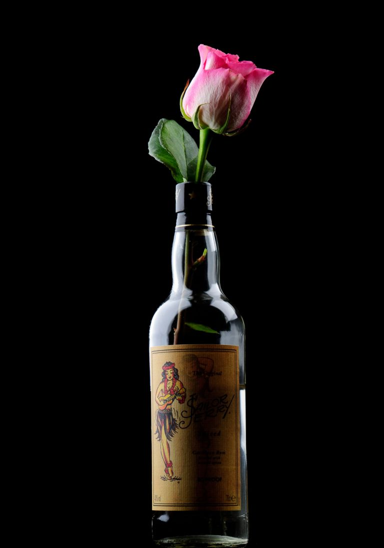 Rose in a bottle of Rum