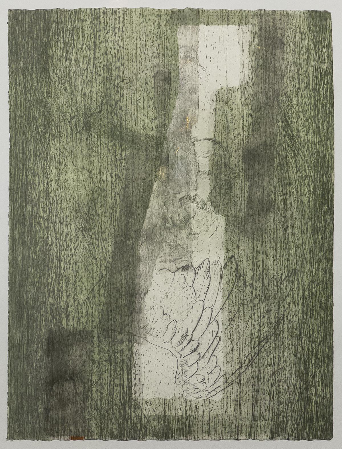 church 2, labastide, monoprint, carborundum, pointe sèche, chine-collé, monotype sur papier wenzhou 30g ou de gravure 160g, blandine galtier ©