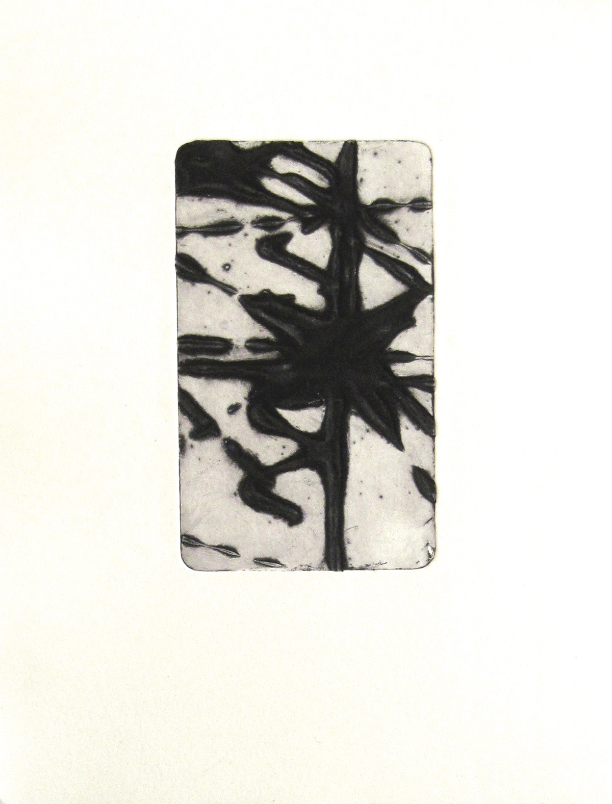 instant 35#6, édition de 4, carborundum sur papier BFK Rives 270g, 20x30 cm, blandine galtier ©
