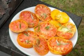tomate en tranche bbq