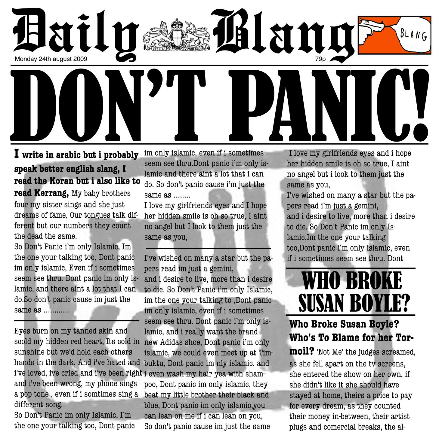 Milk Kan - Don't Panic download single (August 2009)