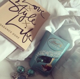 Love x Style x Life book and box of Lindt chocolate
