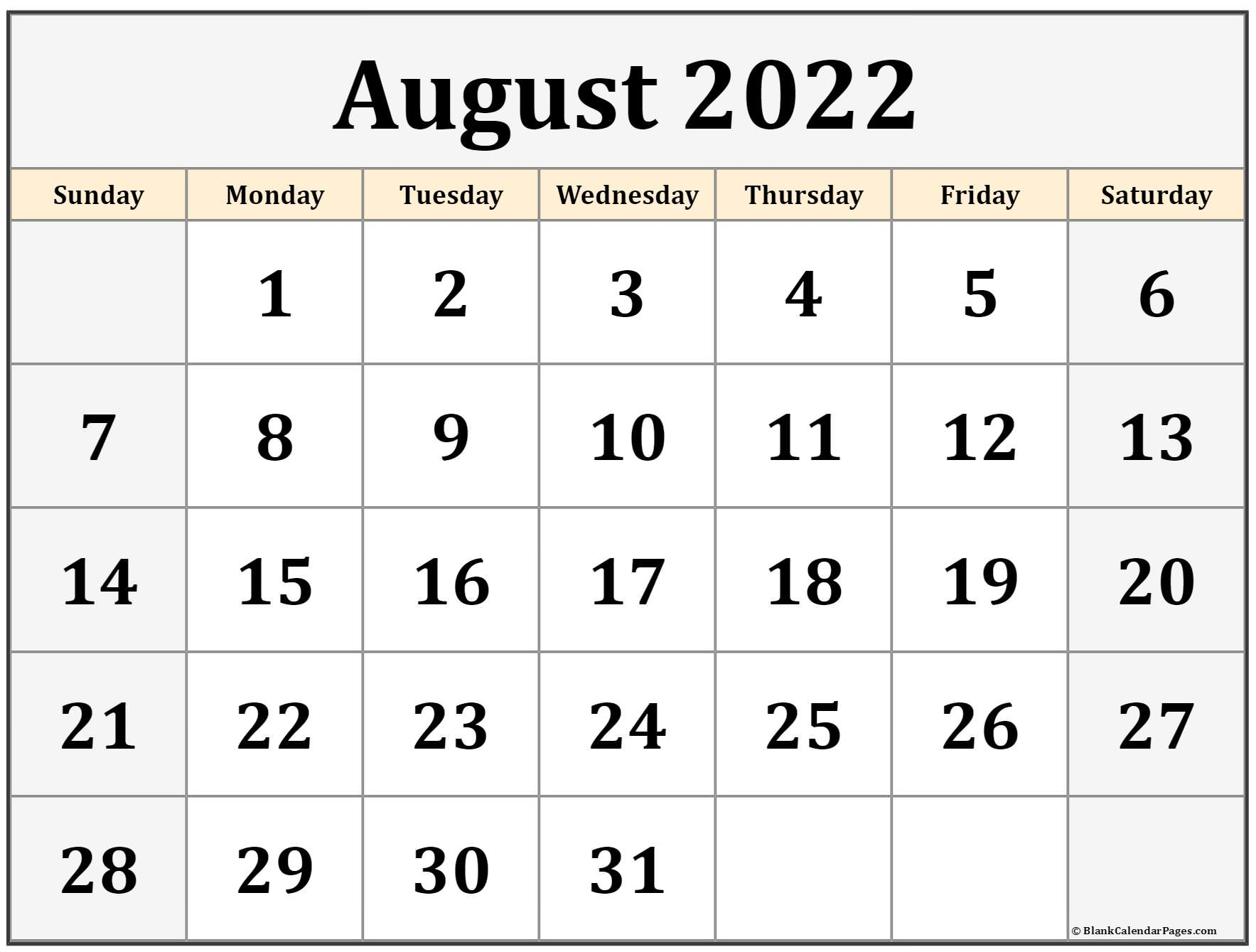 Time rules our lives, with appointments and deadlines guiding us through our days. August 2022 calendar | free printable calendar templates