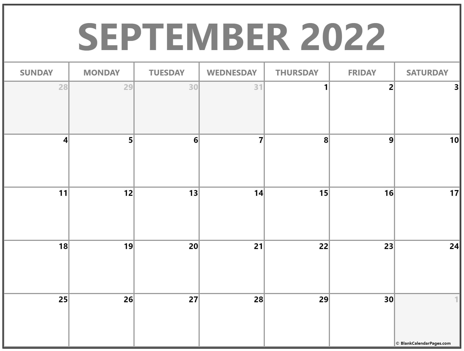 Downloads are subject to this site's term of use. September 2022 calendar | free printable calendar templates