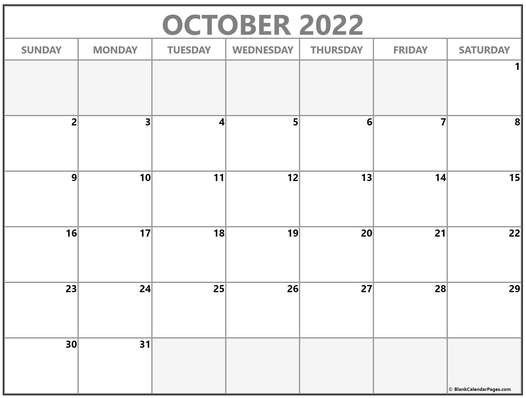 Free printable january 2022 calendars landscape layout calendar template is available with usa public holidays in a classic design pdf template. October 2022 calendar | free printable calendar templates