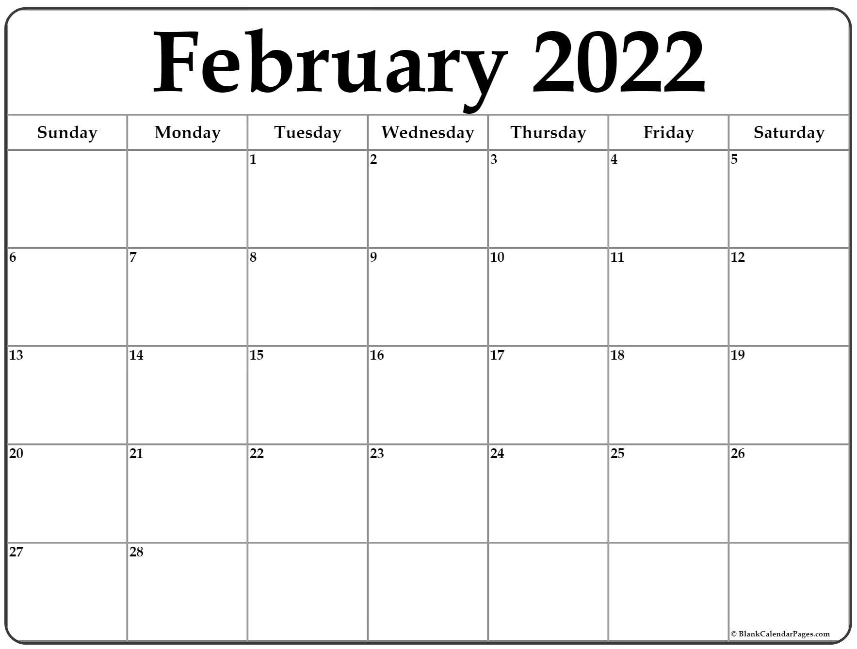 The spruce / lisa fasol these free, printable calendars for 2021 won't just keep you organized; February 2022 calendar   free printable calendar templates