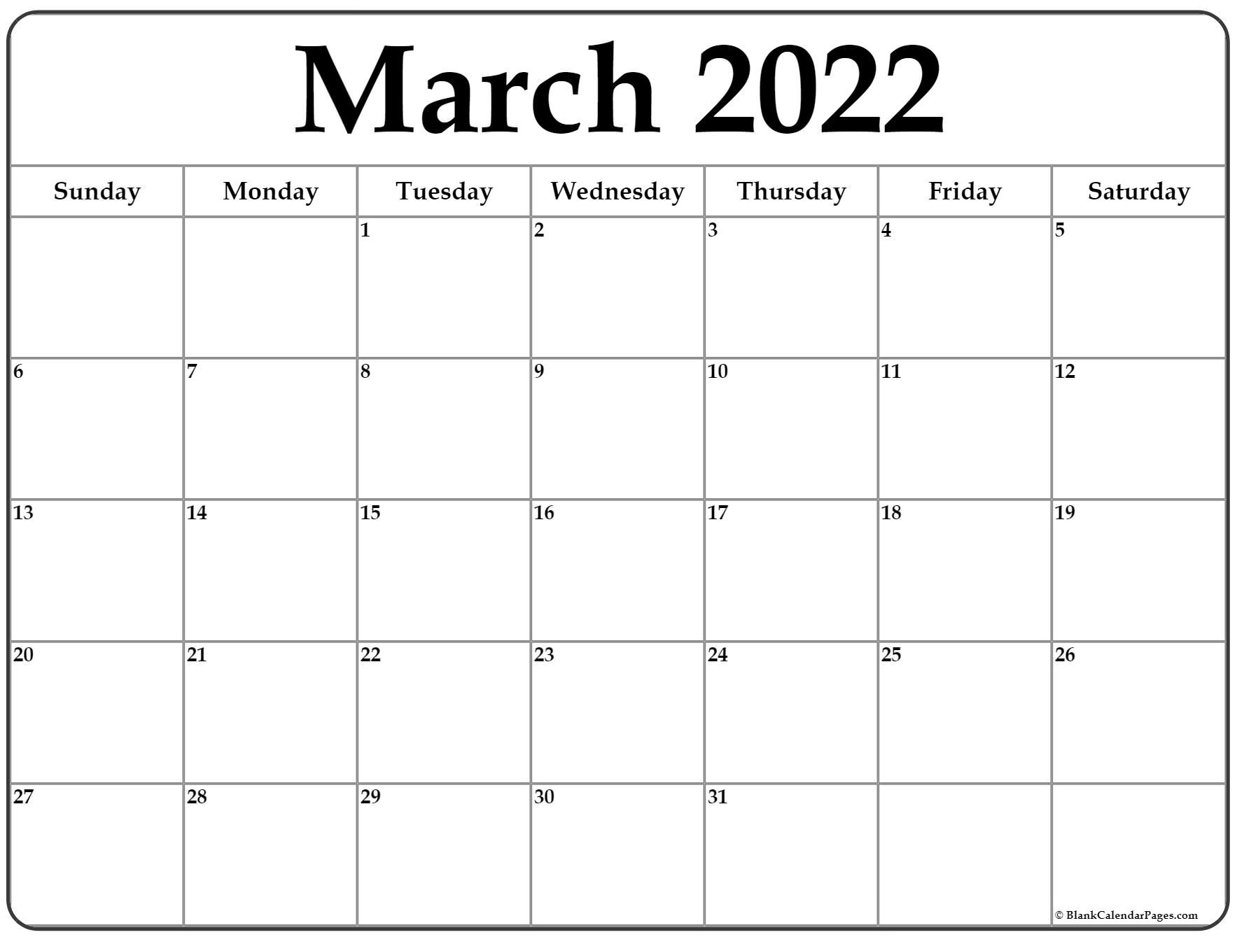 With the help of this printable january 2022 calendar itll be easier to rearrange your activities plans and meetings also. March 2022 calendar | free printable calendar templates