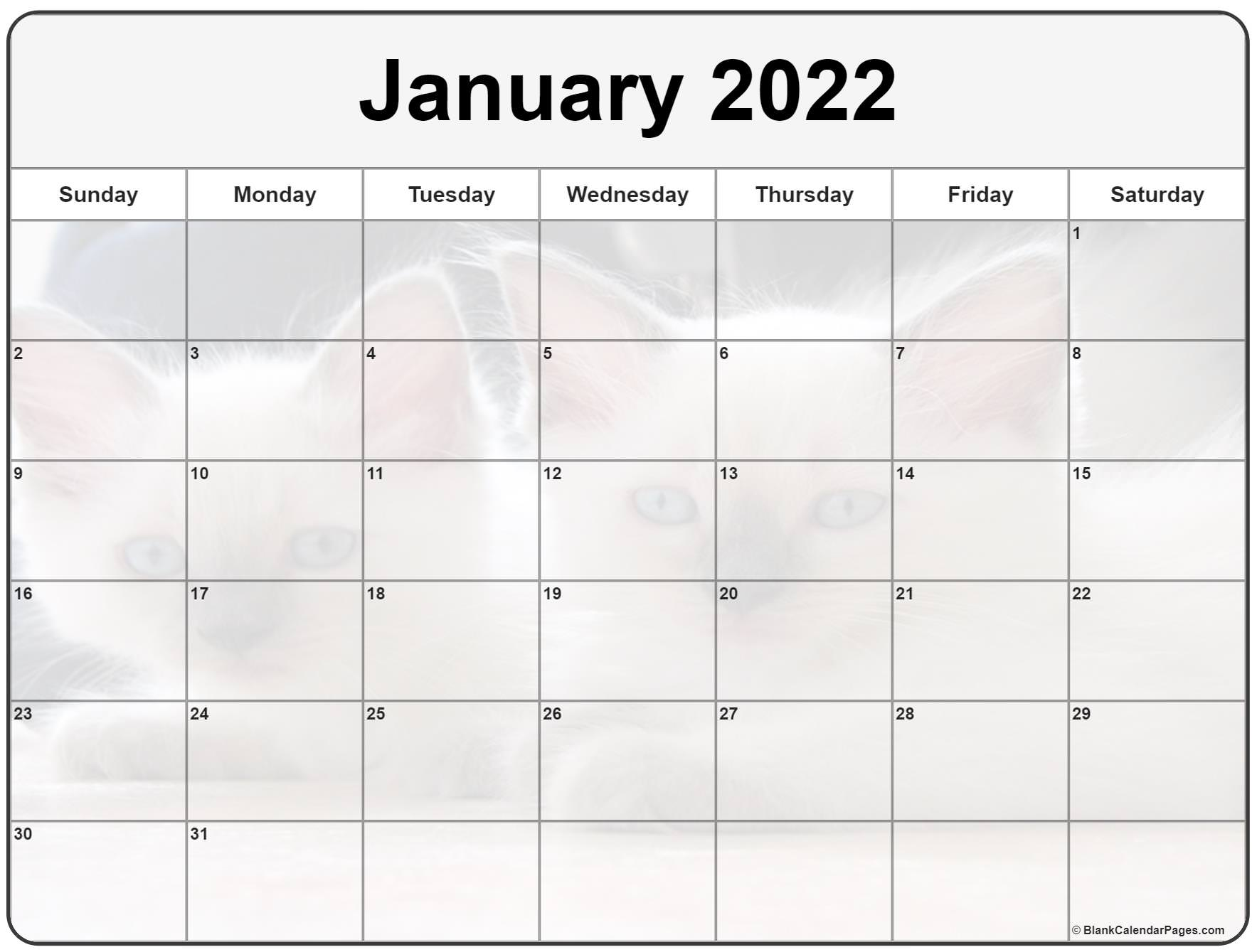 Sure, digital calendars are convenient — we can take them everyw. Collection of January 2022 photo calendars with image filters.