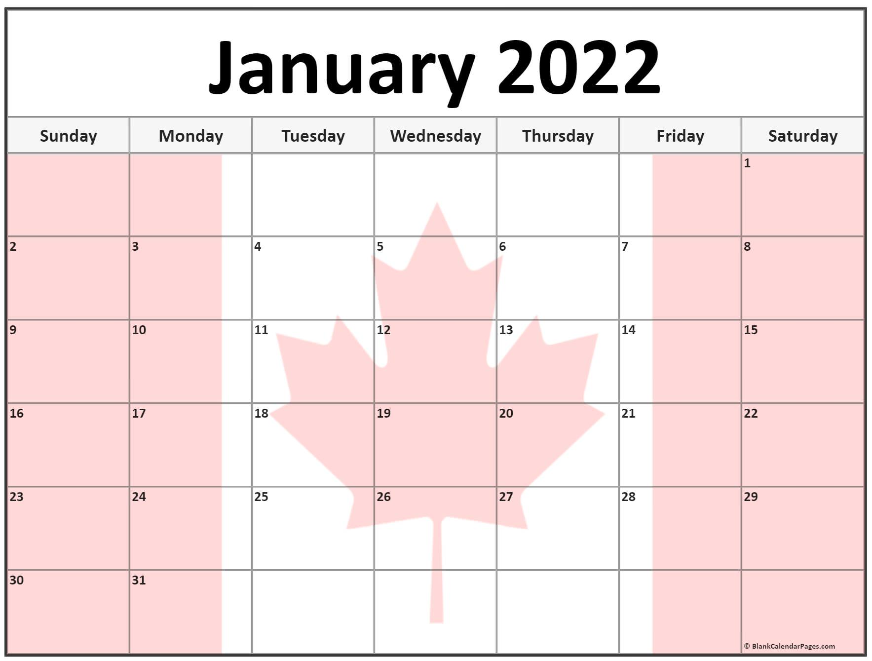 These include monthly calendars and even complete 2021 planners. Collection of January 2022 photo calendars with image filters.