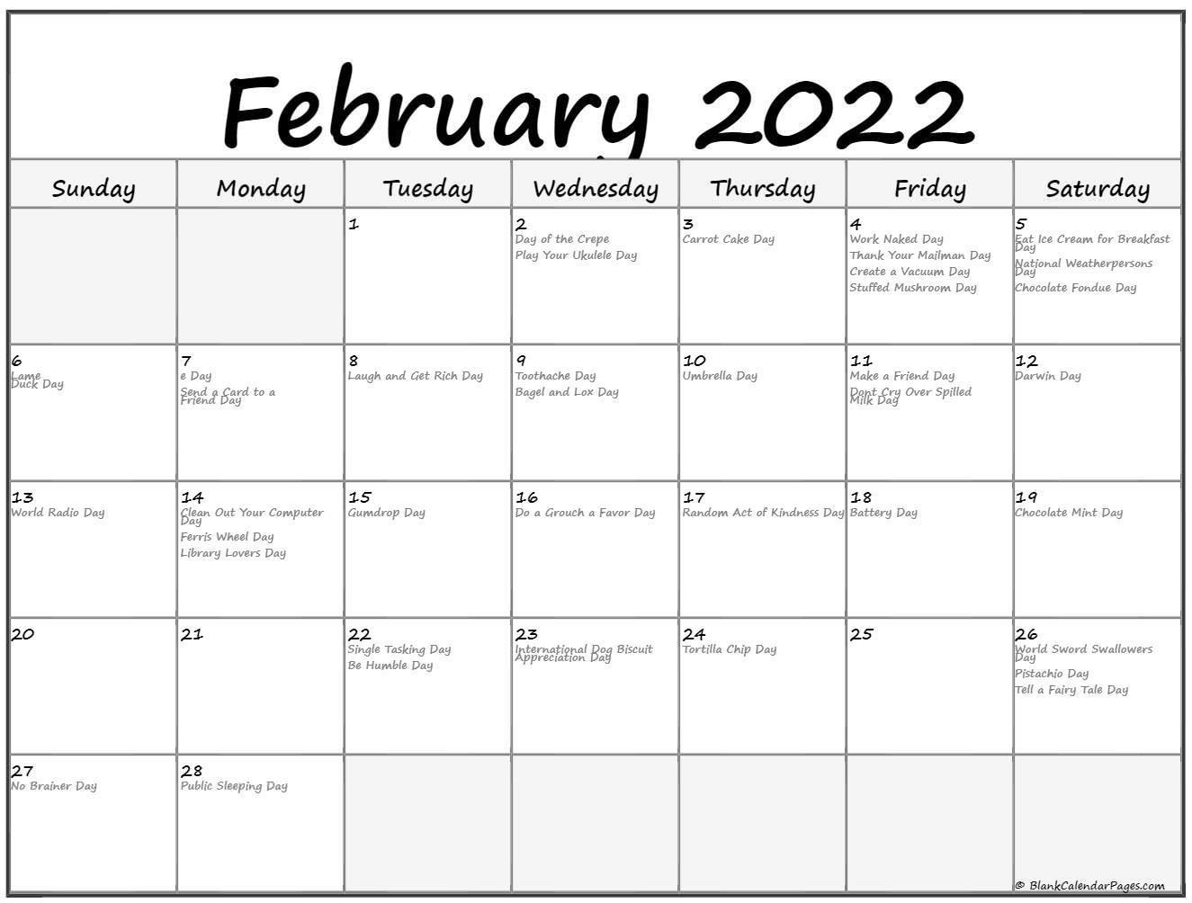Get an amazing collection of blank jan feb 2022. February 2022 calendar with holidays