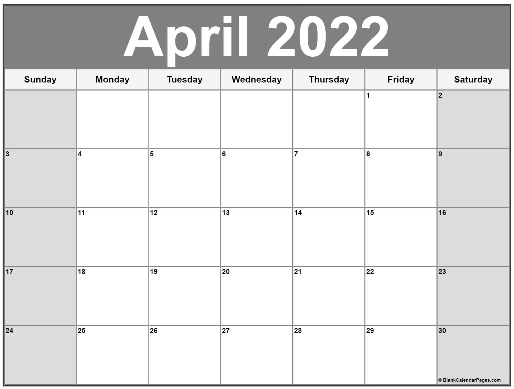 Time rules our lives, with appointments and deadlines guiding us through our days. April 2022 calendar   free printable calendar templates