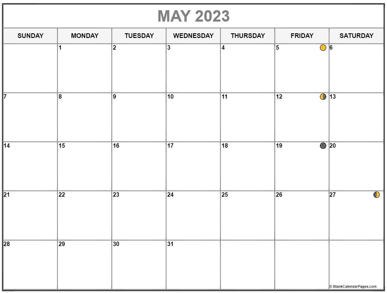 May Lunar Calendar