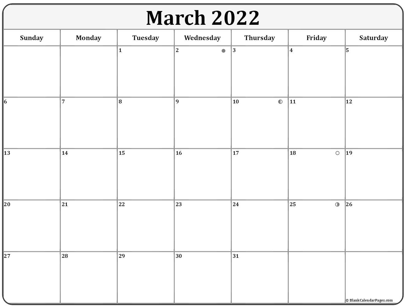 March Lunar Calendar