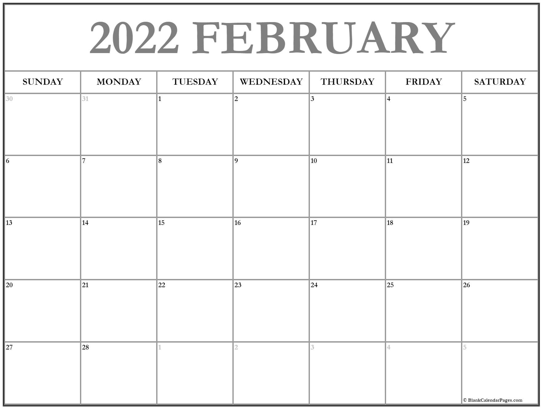 The spruce / lisa fasol these free, printable calendars for 2021 won't just keep you organized; February 2022 calendar | free printable calendar templates