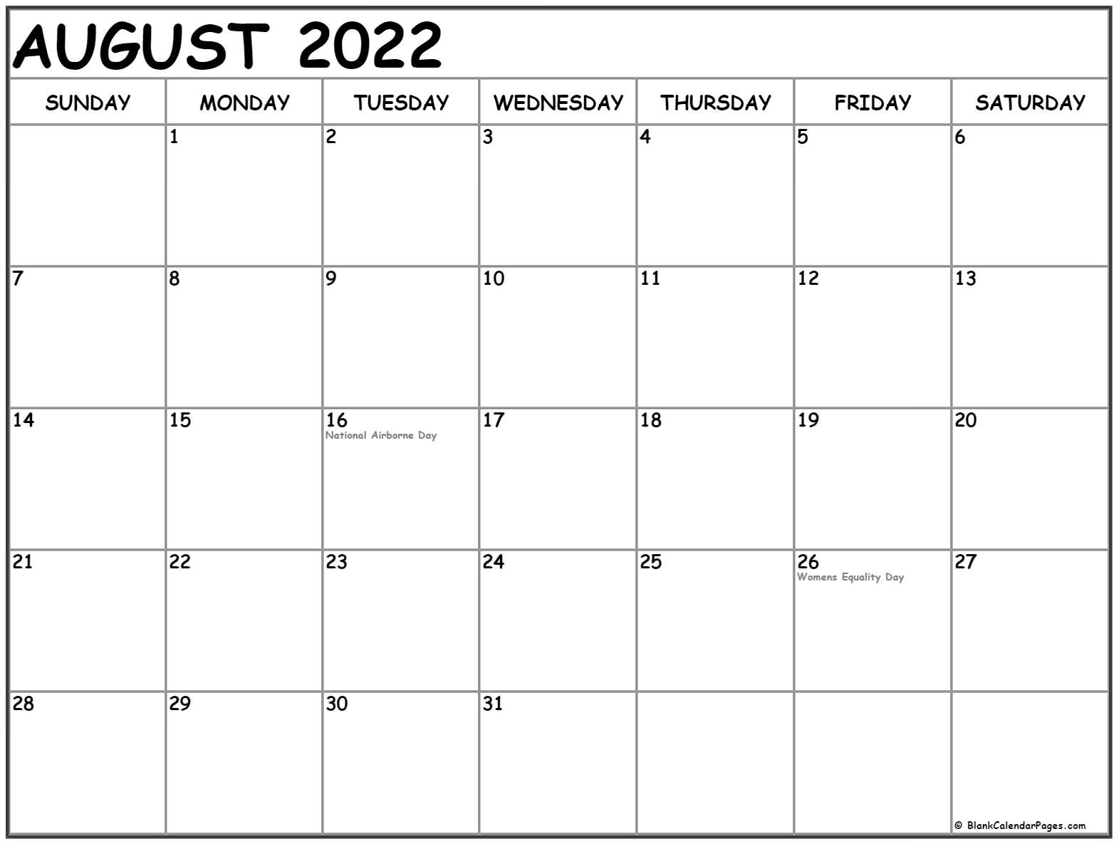 It is useful for quick referencing on dates, write down quick notes founder of lifehack read full profile sometimes it is handy to have a calendar for you. August 2022 calendar with holidays