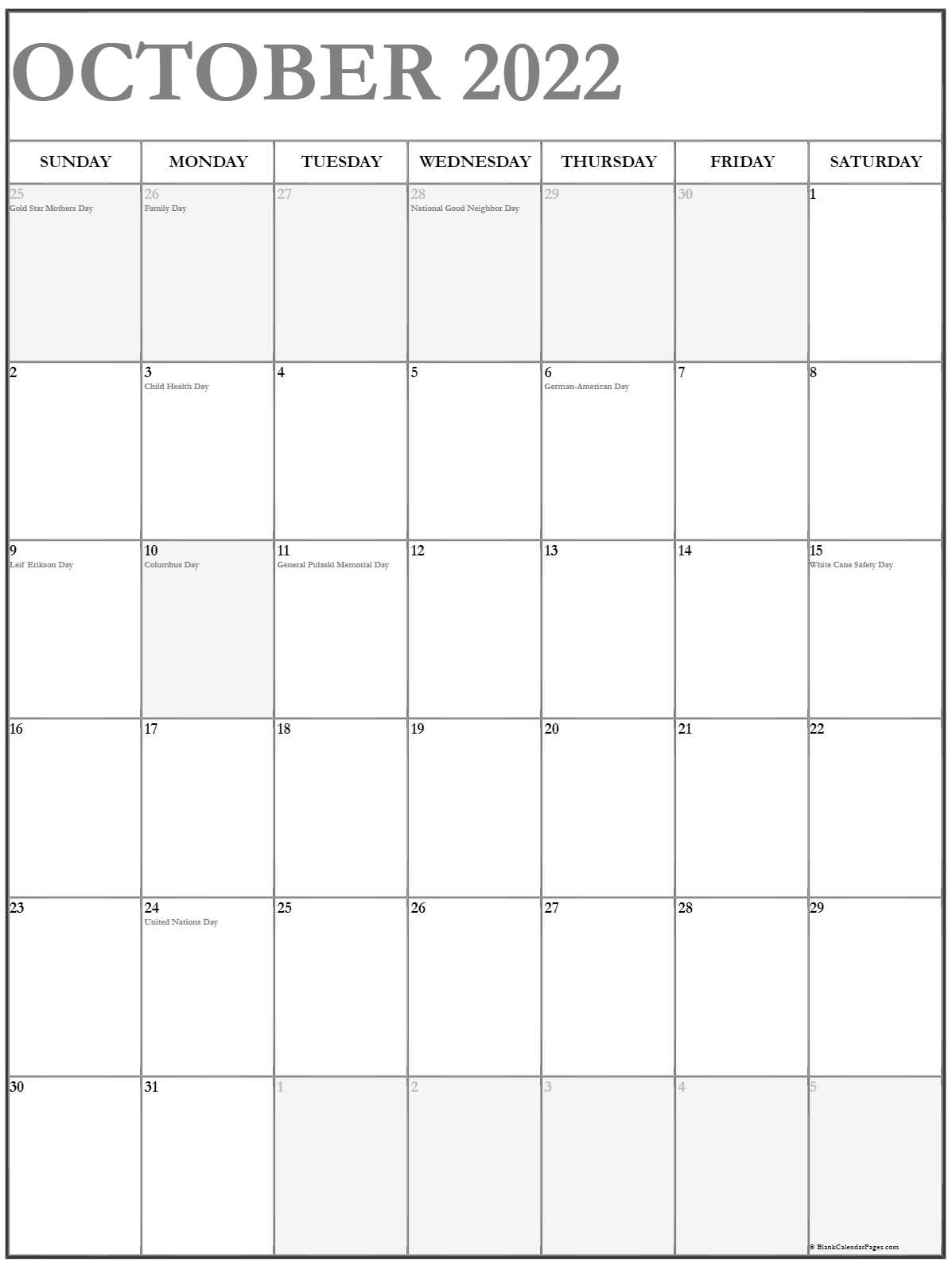 Prior month expectations as reported by reuters last week&aposs ca. October 2022 Vertical Calendar | Portrait