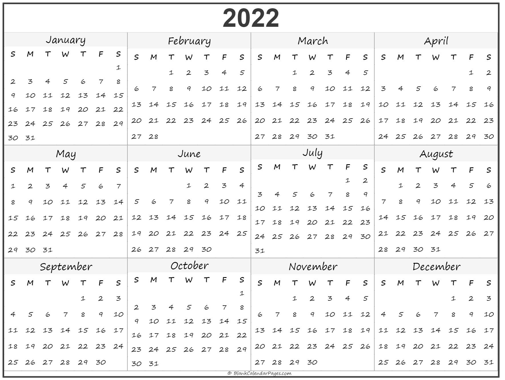 These include monthly calendars and even complete 2021 planners. 2022 year calendar | yearly printable