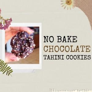 no bake tahini cookies recipe