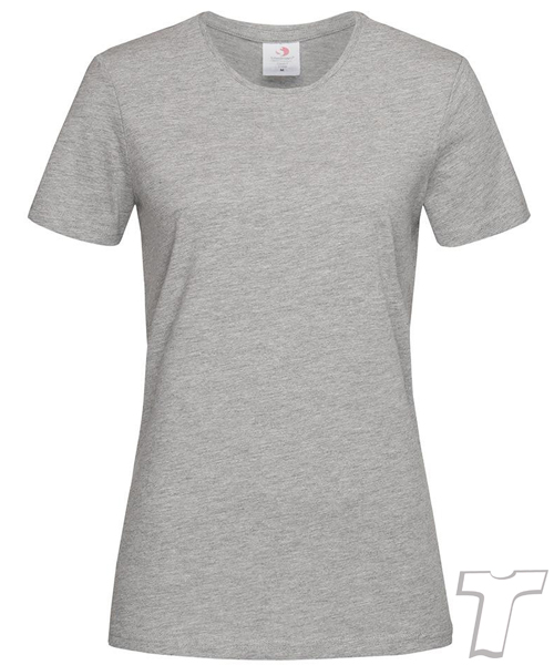 Stedman Light-Weight Ladies T-Shirt Grey Marle