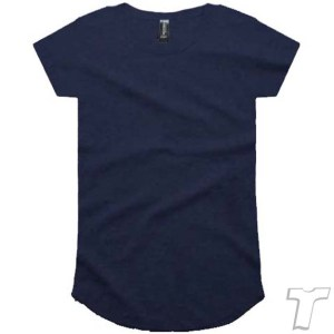 CB Clothing Co Ladies L2 Curve T-Shirt NAVY