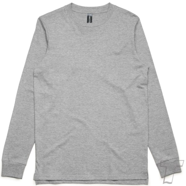 CB Clothing Co Men M6 Long Sleeve T-Shirt Sports Grey