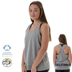 TBTS CB Clothing Co Ladies L4 Racerback Singlet