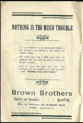 1925 Brown Brothers Advert