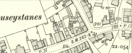1910 Map showing High Blantyre Post Office