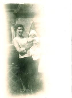 1930 Jean Danskin in back garden (PV)