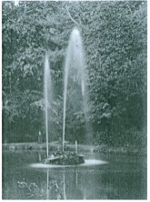 c1900 Fountains at the oval Pool, Auchentibber