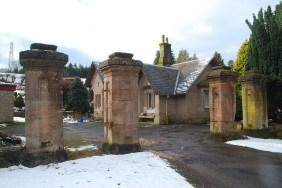 2009 Gate Posts at Calderwood Lodge. Photo by J Brown