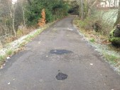 2013 Greenhall potholes filled in. (PV)