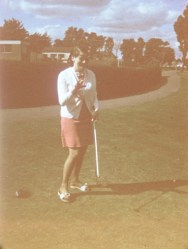 1969 Mum at pitch n putt. Remember the clubhouse?