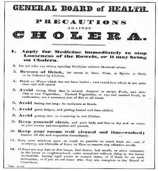 1848 Cholera Notice in Blantyre